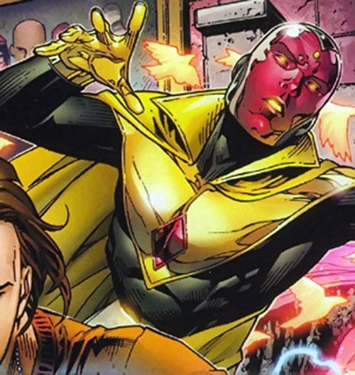 Vision of the Younger Avengers (Marvel Comics) ghosting in