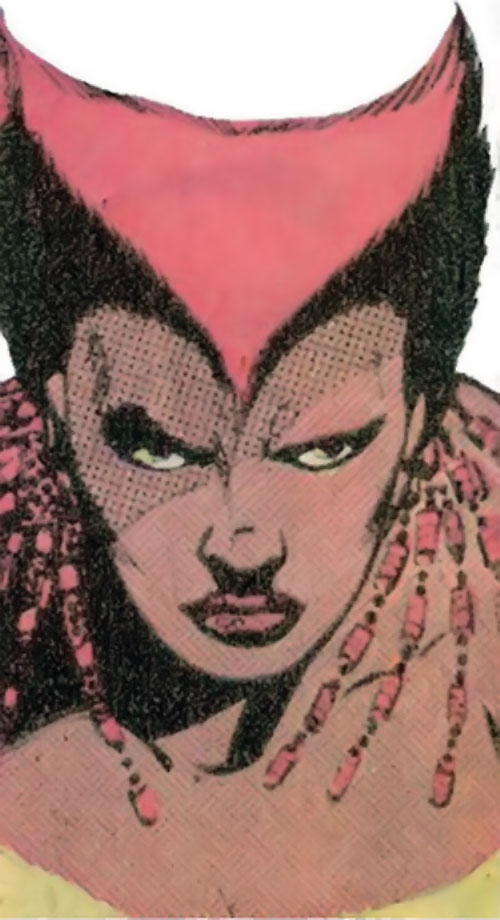 Vixen of the JLA (DC Comics) Suicide Squad face closeup
