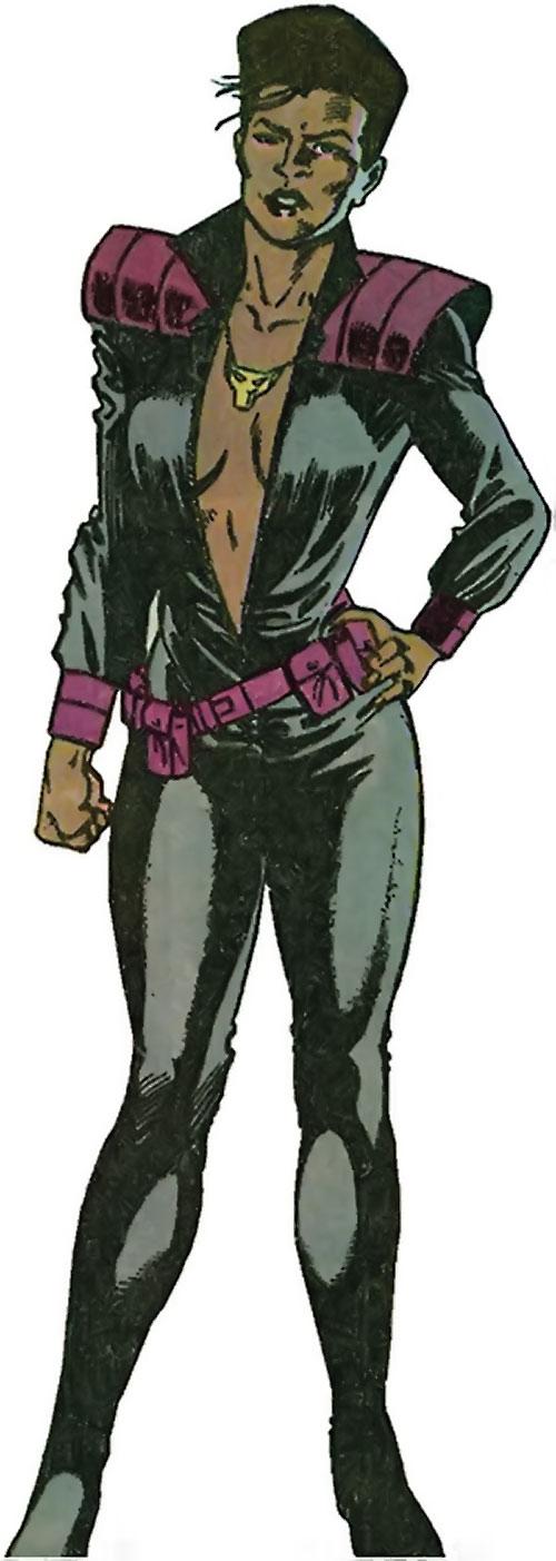 Vixen of the JLA (DC Comics) Suicide Squad dark gray jumpsuit