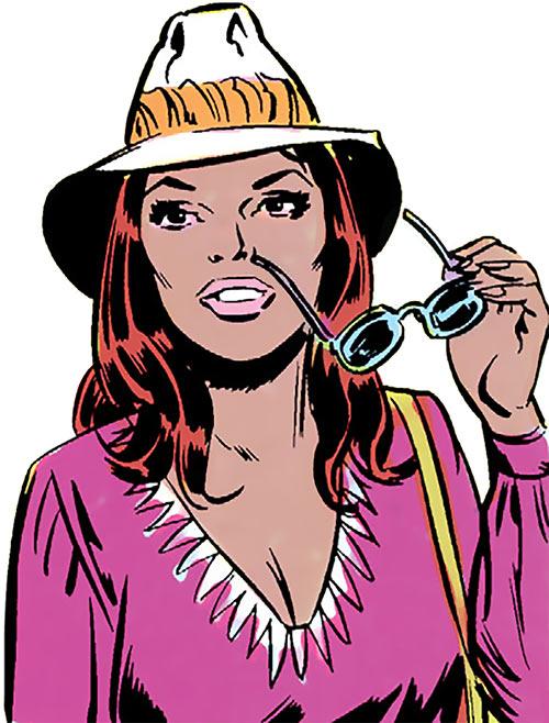 Vixen of the JLA (DC Comics) hat and sunglasses