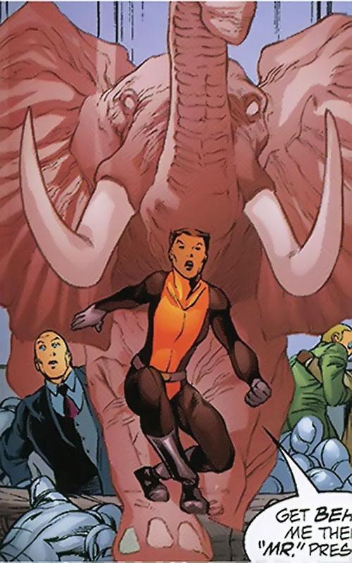 Vixen of the JLA (DC Comics) elephant and Luthor