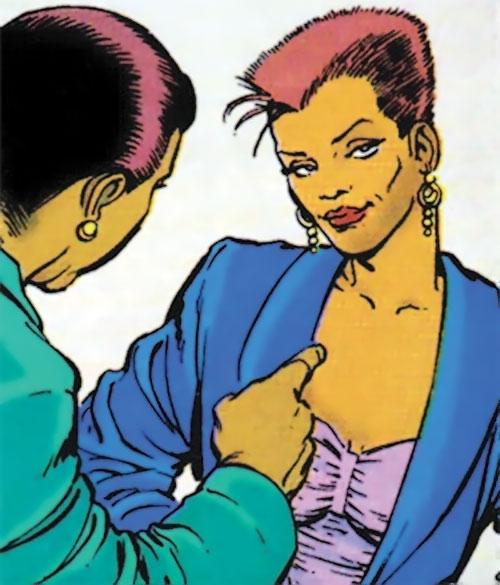Vixen of the JLA (DC Comics) smirking