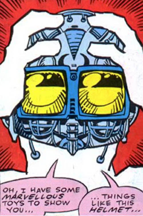 Voidoid (1963 Alan Moore comics) (Fury enemy) helmet and goggles closeup