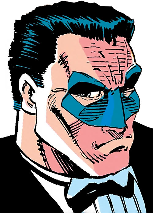 Vormund (Marvel Comics) out of costume but with a mask