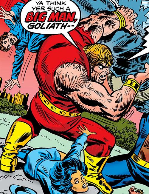 Vulcan (Black Goliath enemy) (Marvel Comics) cover art