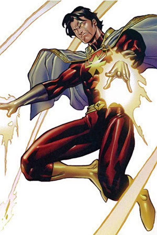 Vulcan (X-Men enemy) (Marvel Comics) in the red costume and white cap, deflecting energy