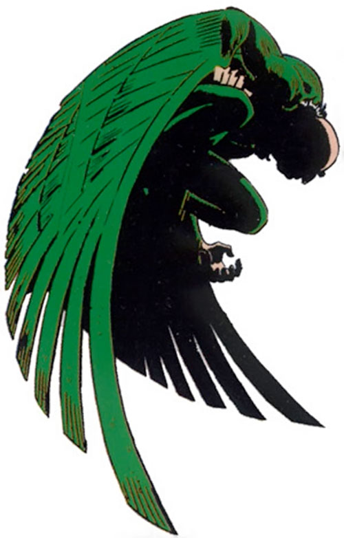 Vulture (Spider-Man enemy) (Marvel Comics) crouching and shadowed