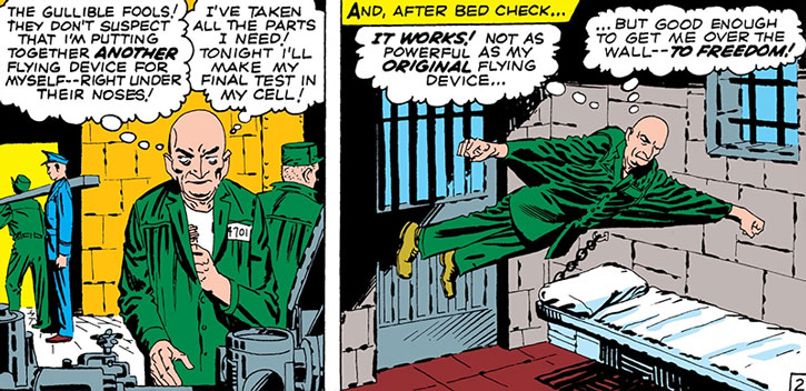The Vulture (Adrian Toomes) escapes from prison