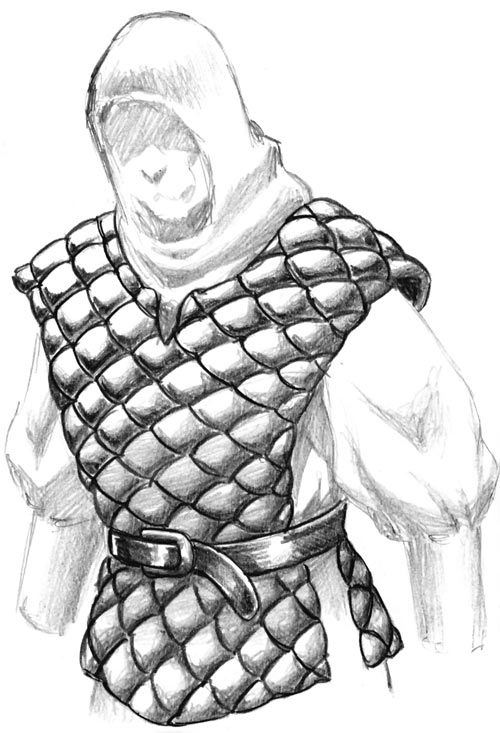 Light body armour - Fantasy padded armour - Credits in caption