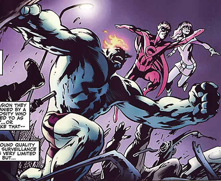 Wallop of Clan Destine (Marvel Comics) with the twins
