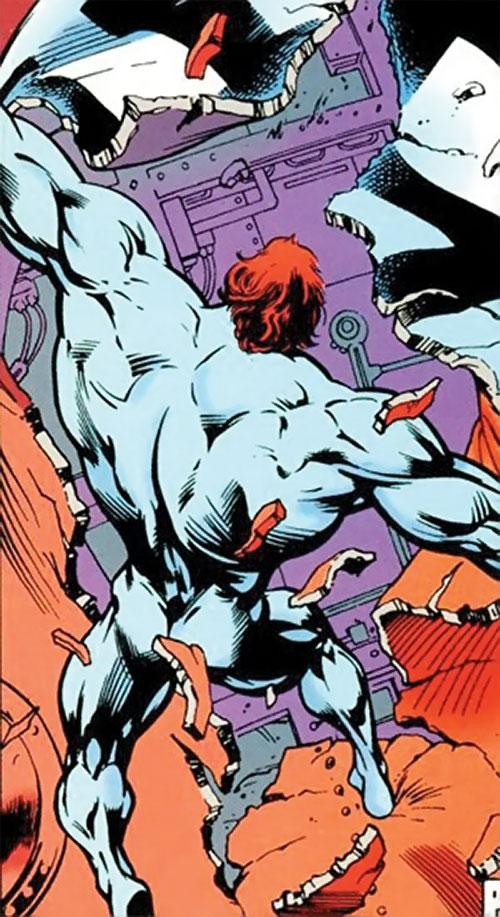 Wallop of Clan Destine (Marvel Comics) tearing through stuff