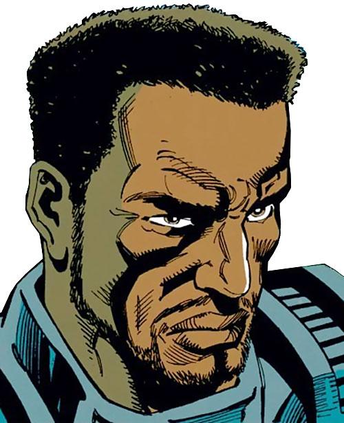 War Machine (James Rhodes) (Marvel Comics) face closeup