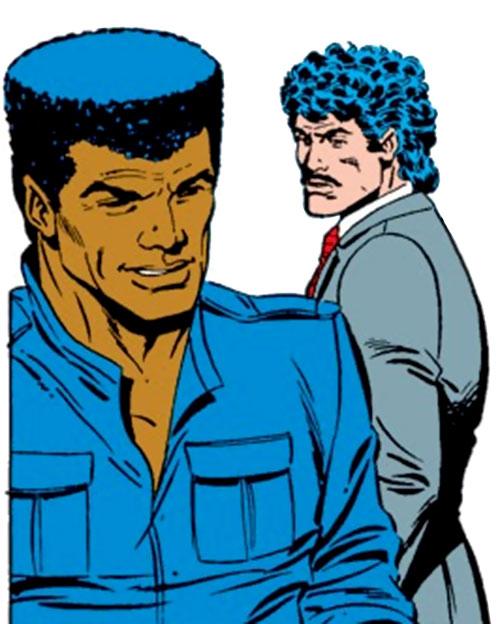 James Rhodes and Tony Stark (Iron Man) (Marvel Comics) during the 1980s