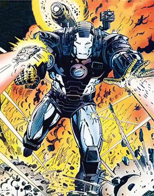 War Machine (James Rhodes) (Marvel Comics) blasting away