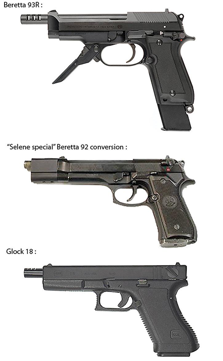 Burst-fire pistols