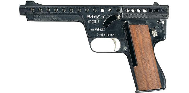 Gyrojet pistol