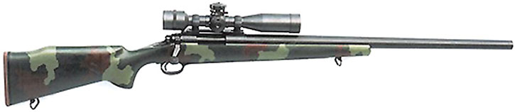 M40A1 sniper rifle in woodland cammo