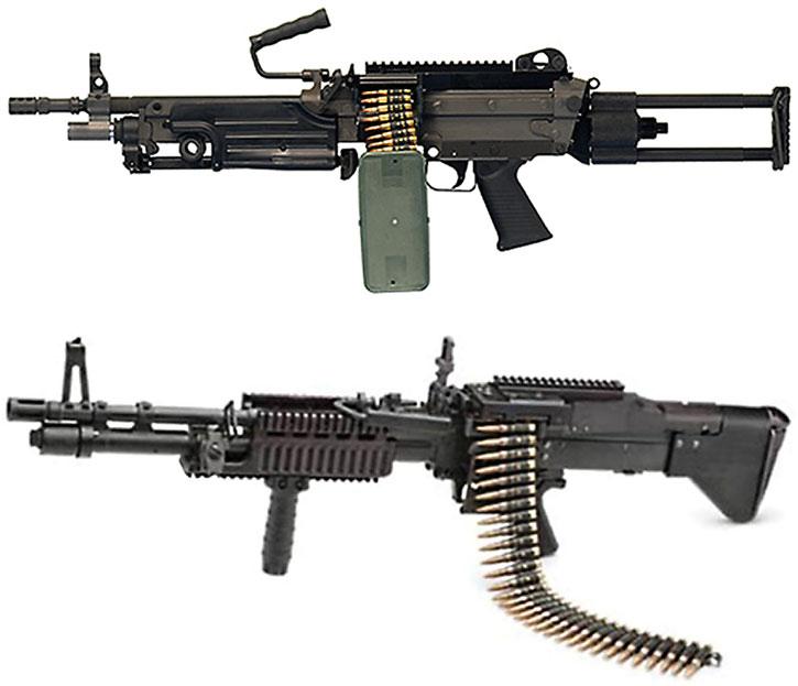 M249 and M60E3 light machineguns