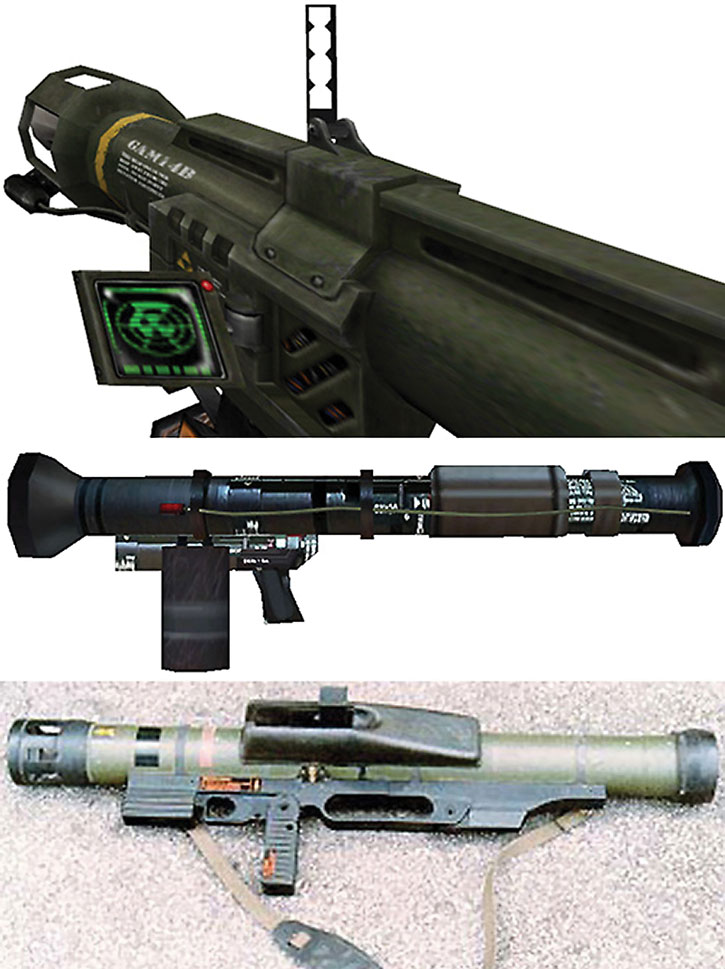 Hal-Like rocket launcher and Armbrust