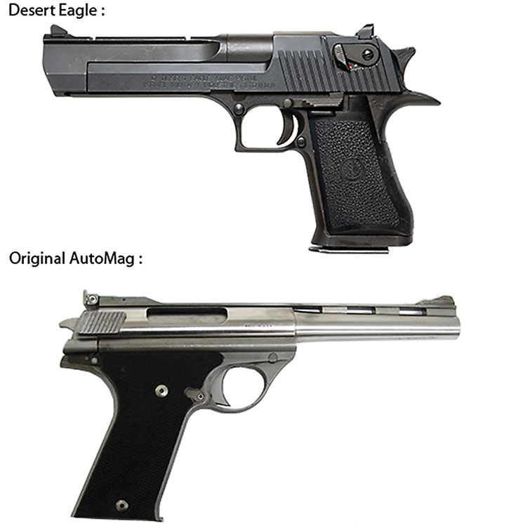 High-power semi-auto pistols