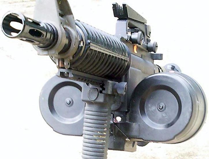M4 with dual drum magazines