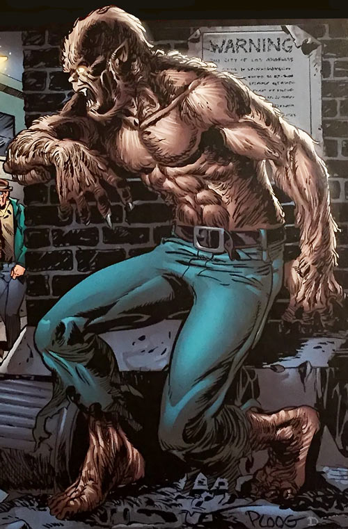 Werewolf by Night (Early) (Marvel Comics) in an alley