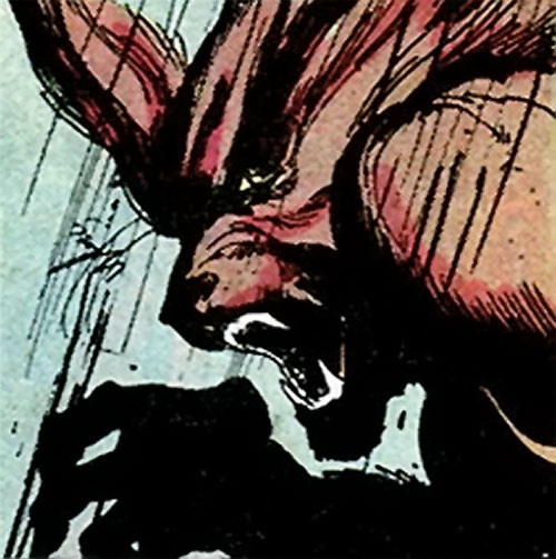 Werewolf by night (Marvel comics) (Classic) feral face closeup