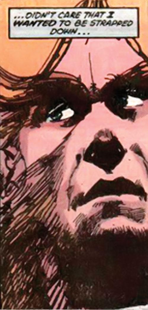 Werewolf by night (Marvel comics) (Classic) face closeup