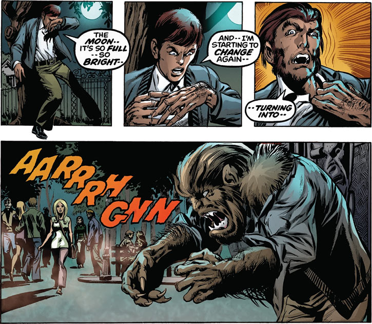Werewolf by Night (Marvel Comics) iconic transformation sequence
