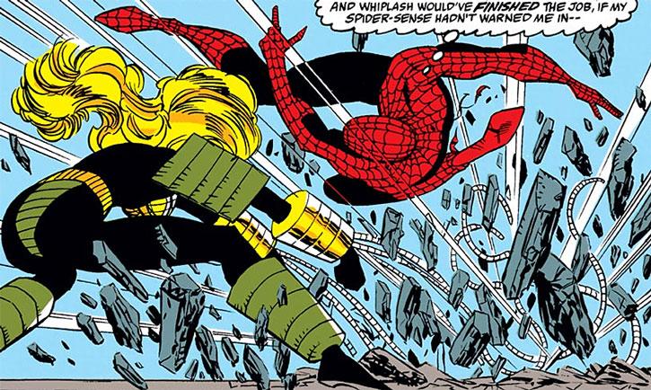 Whiplash (Lee Ann Foreman) vs. Spider-Man