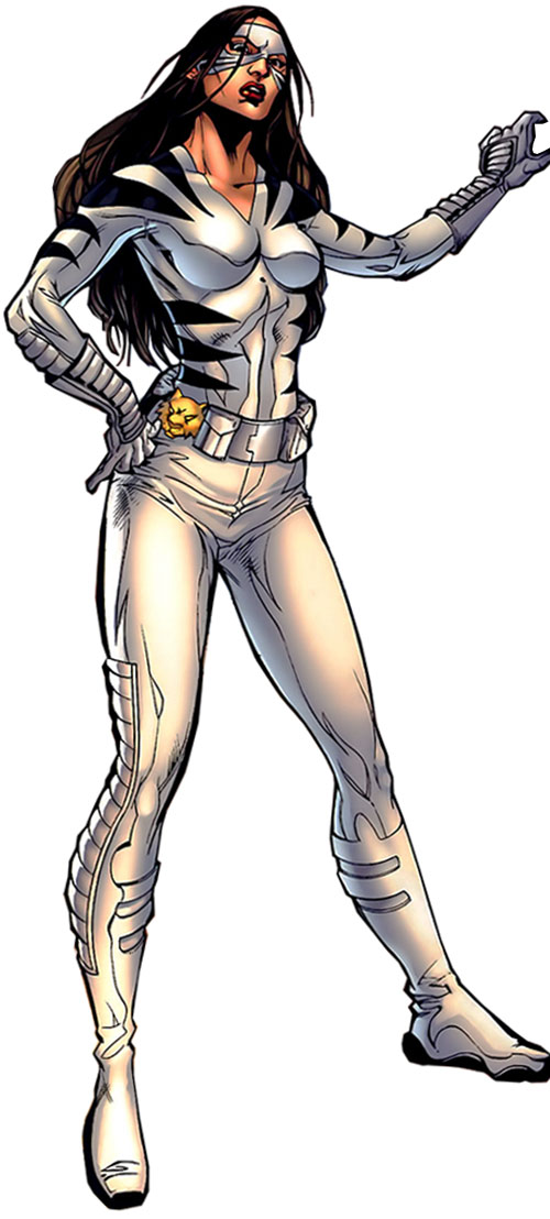 White Tiger (Angela del Toro) (Marvel Comics) with her amulet on her belt