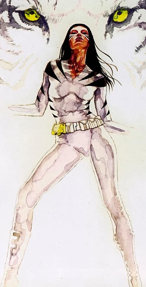 White Tiger (Angela del Toro) (Marvel Comics) painted pose