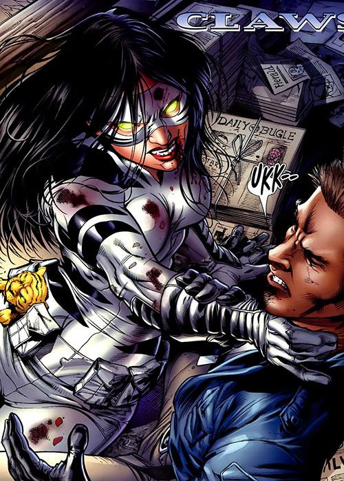 White Tiger (Angela del Toro) (Marvel Comics) bloodied