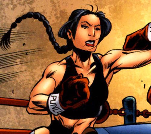 White Tiger (Angela del Toro) (Marvel Comics) boxing