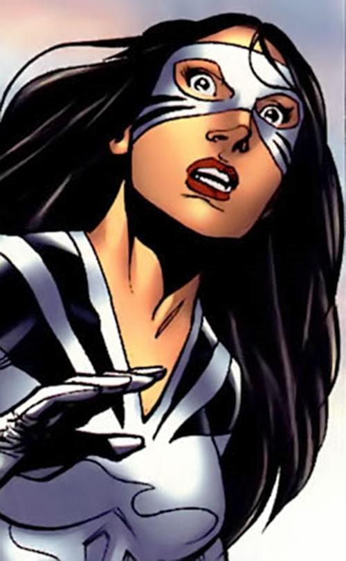 White Tiger (Angela del Toro) (Marvel Comics) surprised expression