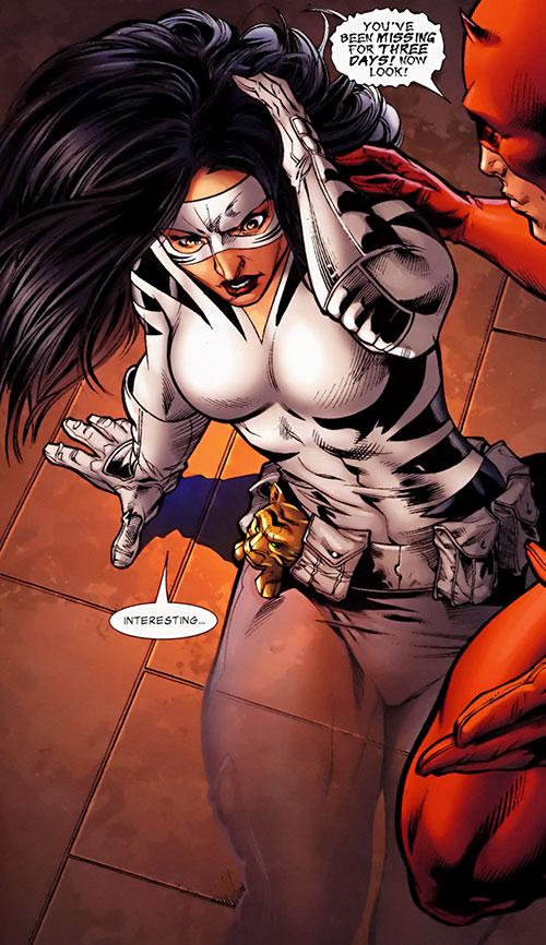 White Tiger (Angela del Toro) (Marvel Comics) partially invisible transparent