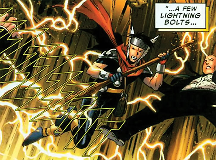 Wiccan (Billy Kaplan) summons lightning