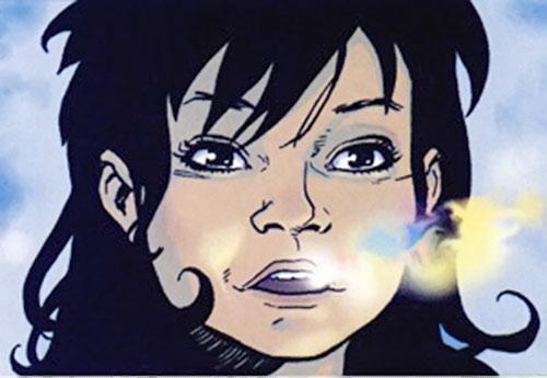 Rosa Torez (Wild Girl) (Image Comics) face closeup with pixie dust