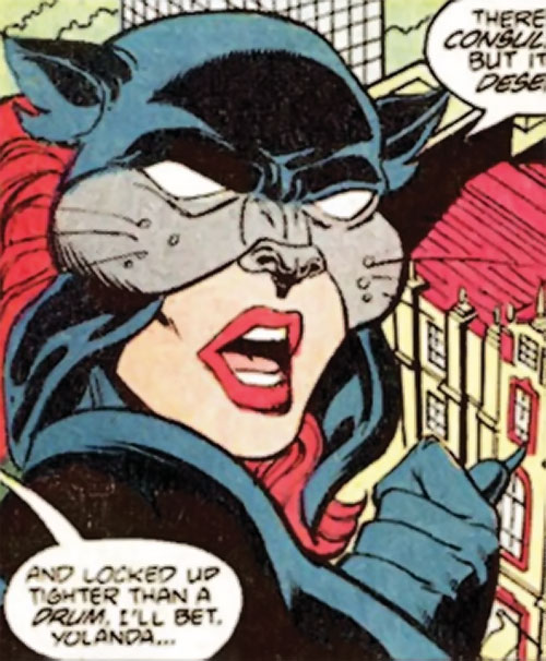 Wildcat of Infinity, Inc. (Yolanda Montez) (DC Comics) face closeup
