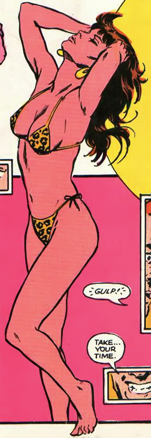 Wildcat of Infinity, Inc. (Yolanda Montez) (DC Comics) in a bikini