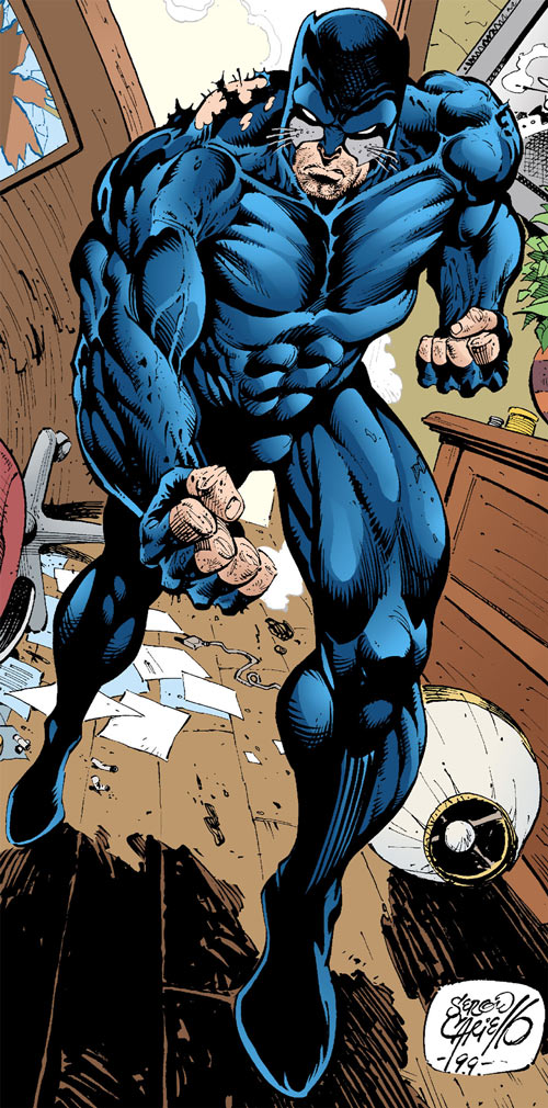 Wildcat (Ted Grant) (DC Comics) in a thrashed apartment