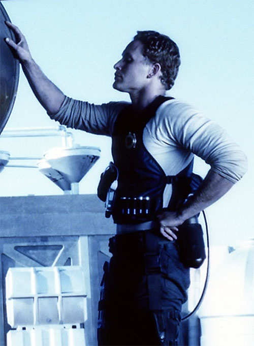 William Johns (Cole Hauser in Pitch Black) in blue lighting