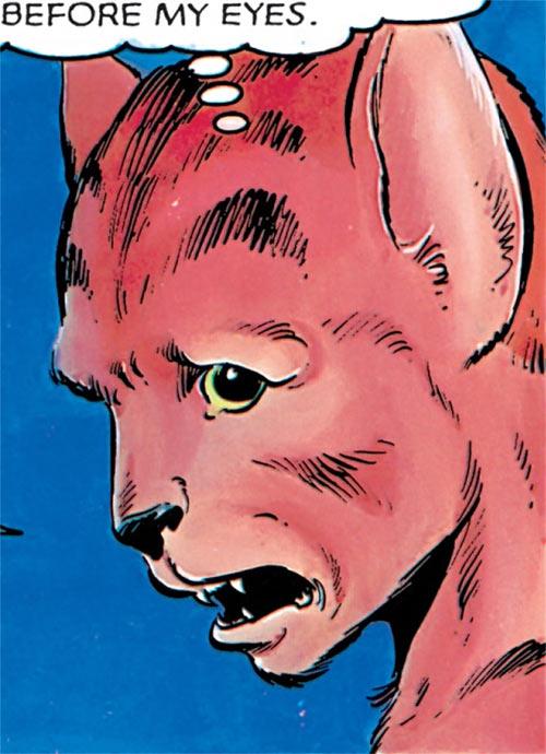 Wolfsbane (New Mutants) (Marvel Comics) (Earliest) half-wolf face