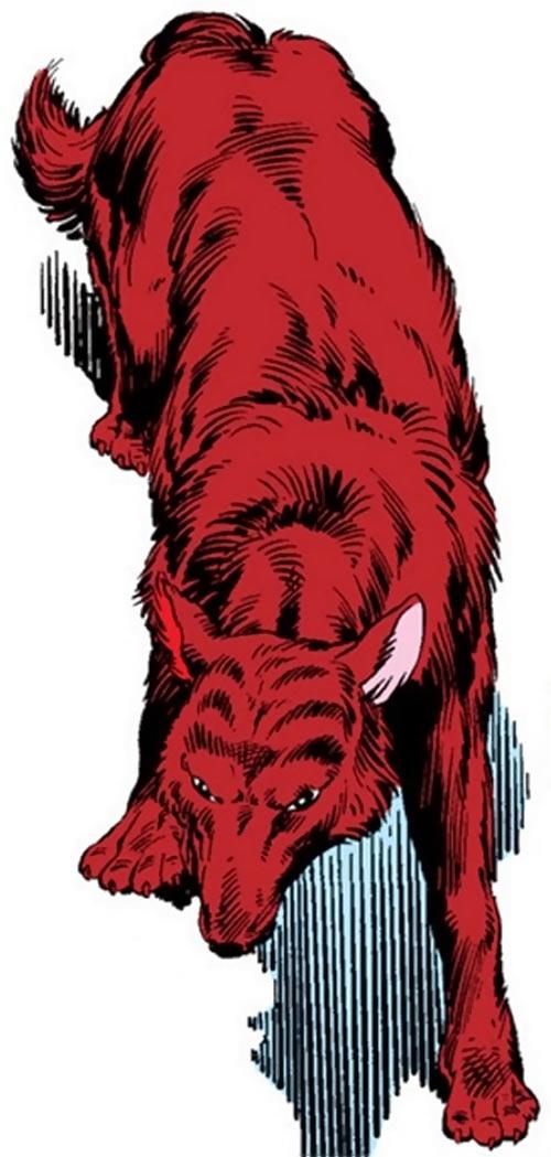 Wolfsbane (New Mutants) (Marvel Comics) (Earliest) wolf form red fur