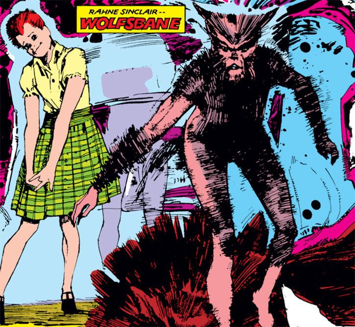 Wolfsbane (New Mutants) (Marvel Comics) (Earliest) Sienkewicz poster