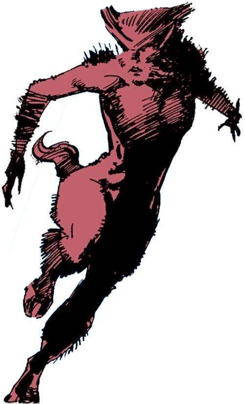 Wolfsbane (New Mutants) (Marvel Comics) (Earliest) intermediate form running