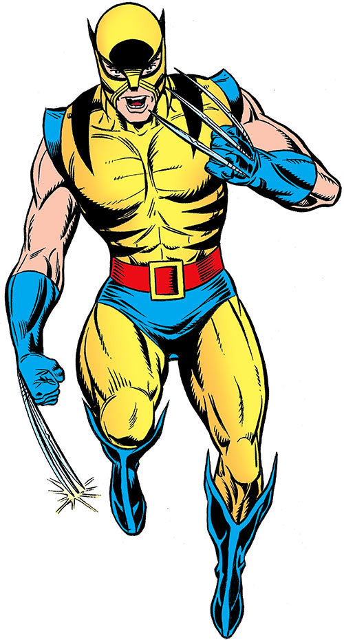 Wolverine (Marvel Comics) in the old costume with the whiskers