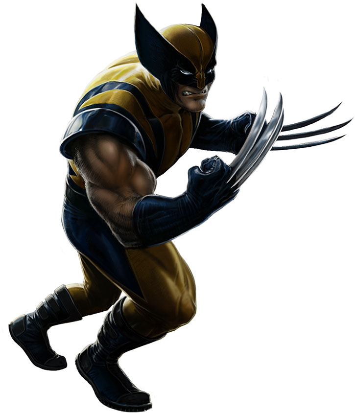 Wolverine's yellow and blue costume