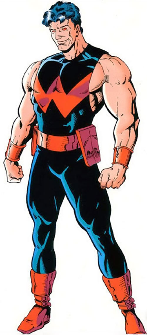 Wonder Man (Marvel Comics) (Avengers) with a dark blue and red costume