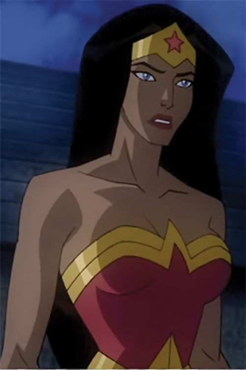 Wonder Woman (2009 animated movie version) at night